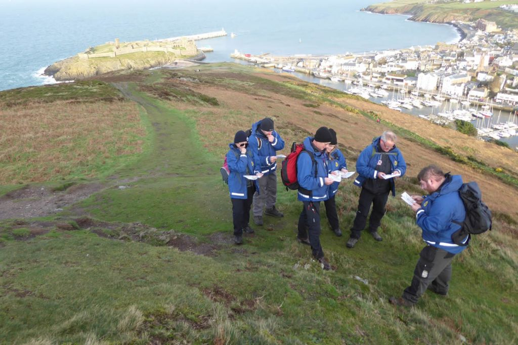 Studying Maps on an NNAS Bronze course on Peel Hill